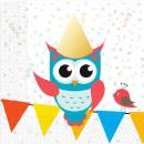 Owl, Owl napkin with 20 pcs