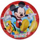 Disney Mickey Paper Plate 8 pcs 19.5 cm