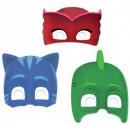 PJ Masken, Pajzsok Maskenmaske, Maske 6 Stück