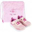 Peppa pig Street shoes with gym bag 21-27