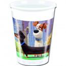 La vida secreta de  las mascotas Vasos de plástico