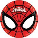 Spiderman, assiettes en papier Spiderman 8 pièces