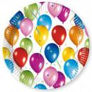 Großhandel Geschenkartikel & Papeterie: Ballon Pappteller von 10 Stücken von 23 cm