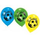 groothandel Feestartikelen: Voetbalballon met 6 ballonnen