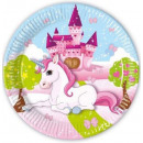 wholesale Gifts & Stationery: Unikornis Paper plate 8 pieces 23 cm