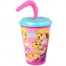 Szívószálas pohár Disney Hercegnők, Princess