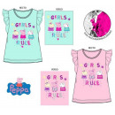 Peppa pig kid sequined short t-shirt, top 3-8