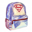 Superman fashion bag, bag bright, glitter 36 cm