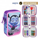 Disney Vampirina pen case filled with 3 decks