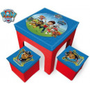 Toy storage puff (2 pcs) + table Paw Patrol , Manc