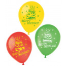 Happy Birthday balloon, balloons 6 pieces (22.8 cm