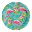 Flamingo, Flamingo Papieren bord 8 stuks 23 cm