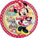 Großhandel Partyartikel: Disney Minnie Pappteller 8 x 23 cm