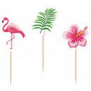 wholesale Figures & Sculptures: Flamingo, Flamingo cocktail stick 20 pieces