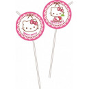 Hello Kitty straw, 6 pcs set