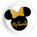 Disney Minnie Gold Paper Plate with 8 pcs 20 cm