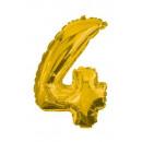 Óriás 4-es Gold szám Fólia lufi 85 cm