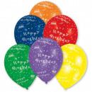 nagyker Parti kellékek: Happy Birthday léggömb, lufi 8 db-os