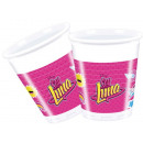 wholesale Drinking Glasses: Disney Soy Luna Plastic cup 8 pcs 200 ml