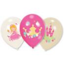 Princess ballon, ballon met 6 stuks