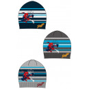 Spiderman Kid in Knitted Hat