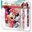 Diary + 6-Color Pen + Watch for Disney Minnie