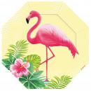 Flamingo, Flamingo Papieren bord 6 stuks 18 cm