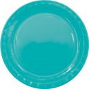 Paper plate 8 x 23 cm Aqua Blue