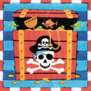 Pirate, Pirate napkin 16 pcs, 33 * 33 cm