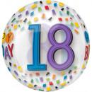Happy Birthday 18 Ball Foil Balloons 40 cm