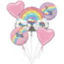 Regenbogen, Regenbogen Folienballons Set mit 5 Stü