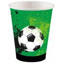 Football Goal, Soccer Paper Cup 8 pcs 250 ml