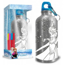 Colorable aluminum foil with carabiner frozen