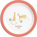 Großhandel Geschenkartikel & Papeterie: Safari, Safari Pappteller 8-teilig 23 cm