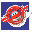 Super Wings Party Invitation 6 pcs