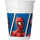 Spiderman , Spiderman Plastic cup of 8 pieces 200