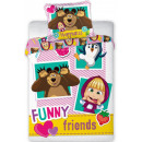 Masha and the Bear Kids' Bedding Cover 100 × 1