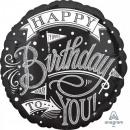Palloncino Foil Happy Birthday 43 cm