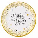 Happy New Year Dough plate 8 pcs 23 cm