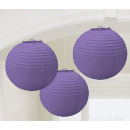 Lampion Purple 20,4 cm 3 db-os szett