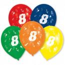 Happy Birthday 8 Balloon 10 Ball (25,4 cm)