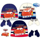 Baby cap + glove set for Disney Cars , Verdas