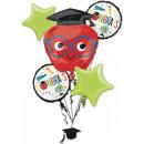 nagyker Parti kellékek: Graduation, Ballagás Fólia lufi 5 db-os szett
