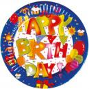 Kokliko Happy Birthday Paper plate 10 pcs 16 cm