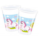 Unikornis Plastic cup 8 pieces 200 ml