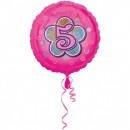 5. Birthday, Születésnap Fólia lufi 43 cm