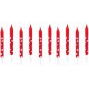Bougie gateau coeur, set de 10 bougies