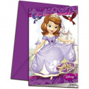 DisneySofia , Sofia Party Invitation 6 pcs