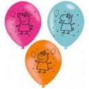 wholesale Party Items: Peppa pig balloon, balloons 6 pcs 11 inch (27.5cm)