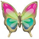 Balony foliowe z tropikalnym motylem 76 cm
